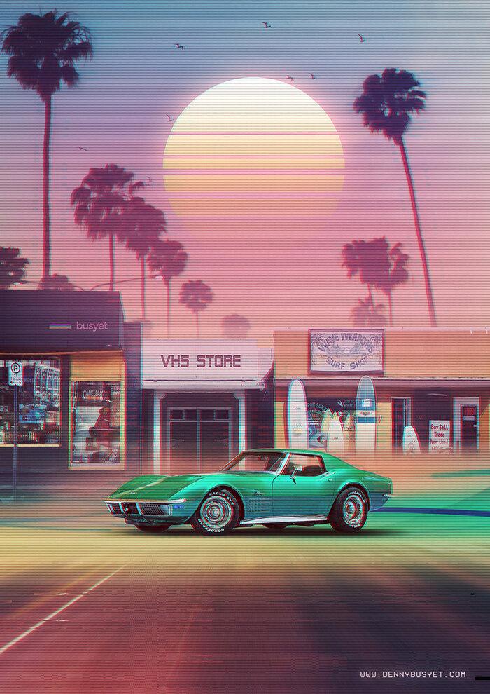 Synthwave Sunset Drive, by Denny Busyet
